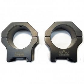 Juego de anillas APEL Blue-line para Picatinny / Weaver - 30mm.