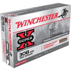 Munición metálica Cal. 308 WIN - 185 gr - SuperX - WINCHESTER -
