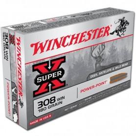 Munición WINCHESTER Cal. 308 WIN - 180 gr POWER POINT - Armeria