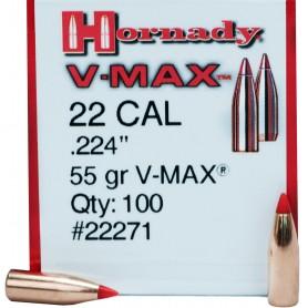 Puntas Hornady Cal. 22 V-Max 55gr - Armeria EGARA