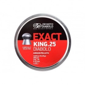 Balines EXACT KING 25 Diabolo 6,35mm (350 pcs) ORIGINALES -