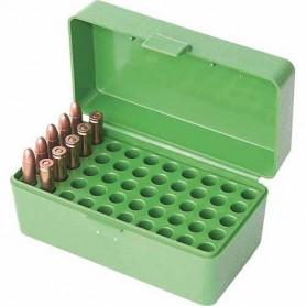 Caja MTM 50 cart. desde.22-250 a 7,62 c. verde - Armeria EGARA