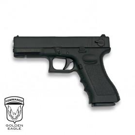 Pistola Golden Eagle G18 NEGRO corredera metálica - 6 mm muelle