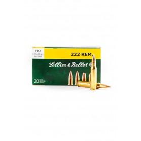 Munición metálica Sellier Bellot Cal. 222 FMJ 50 Gr - Armeria