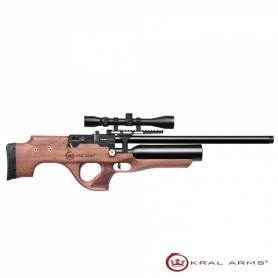 Carabina PCP KRAL Puncher Ekinoks Madera S/A - 5,5 mm - 24
