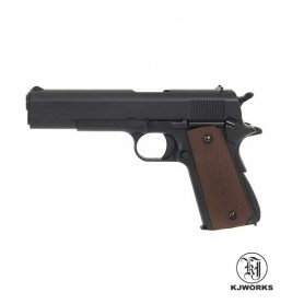 Pistola KJWorks 1911 Full Metal - 6 mm Gas - Armeria EGARA