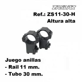 Monturas Zasdar Altura Alta Ø30 mm rail 9-11 mm - Armeria EGARA