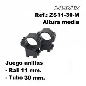 Monturas Zasdar Altura Media Ø30 mm rail 9-11 mm - Armeria EGARA