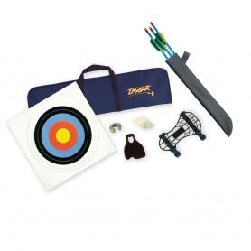Kit Básico con accesorios y flechas, Arco Recurvado infantil