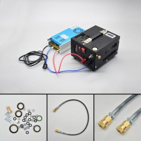 Compresor Electrico 12v/220v para PCP 300 Bar. 1000cc.