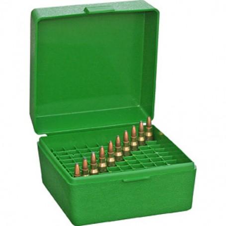 Caja Verde MTM para munición de 100 (varios calibres) - Armeria
