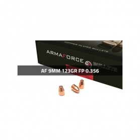 Puntas Cal. 9mm (.356)-123-FP Cobreado 500 uni. Armaforce -