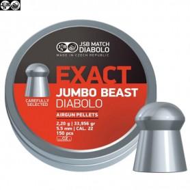 Balines EXACT JUMBO BEAST Cal. 5,5 mm (150 pcs) ORIGINALES -