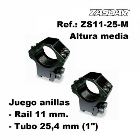 Monturas Zasdar Altura Media Ø25 mm / rail 9 - 11 mm - Armeria