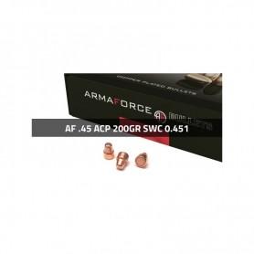 Puntas Cal. 45-200 SWC Cobreado 250 Uni. Armaforce (.451) -