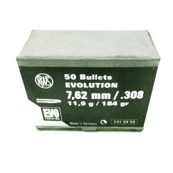 Proyectiles RWS EVO cal. 30 - Armeria EGARA