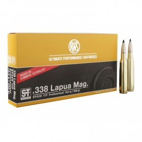 Munición metálica RWS Cal. 338 LAPUA MAG. SPEED TIP - 250 gr -