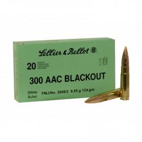 Munición metálica SELLIER BELLOT Cal. 300 AAC FMJ - 124 gr -