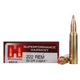Munición metálica HORNADY Cal. 222 REM - 50 gr - Armeria EGARA