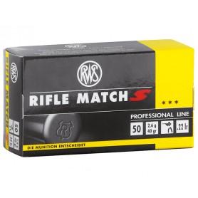 Munición metálica RWS Cal. 22 RIFLE MATCH S - Armeria EGARA