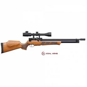 Carabina PCP KRAL Puncher Madera 6,35 mm - 24 Julios - Armeria
