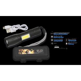 Linterna con zoom, barra led y caja ABS - Armeria EGARA