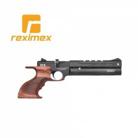 Pistola PCP Reximex RPA calibre 4,5 mm. Madera y color negro.