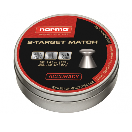 Balines NORMA Cal. 4,5mm S-TARGET MATCH - Armeria EGARA