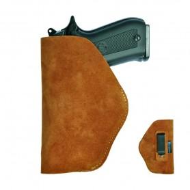 Funda de Piel Interior para Pistola Automática en color marrón