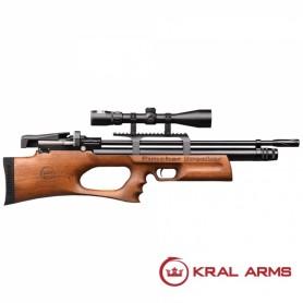 Carabina PCP KRAL Breaker madera 6,35 mm - 24 Julios - Armeria