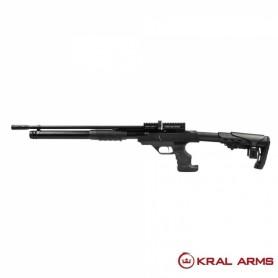 Carabina PCP KRAL Puncher Rambo Pump Action- Negro 6,35 mm - 24