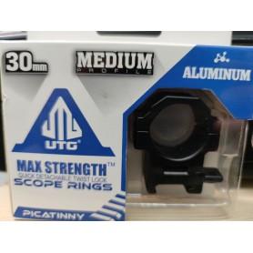 Montura Medium UTG 30 mm - MAX STRENGTH - Armeria EGARA