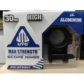 Monturas Alta UTG 30mm - MAX STRENGTH - Armeria EGARA