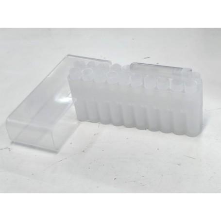 Caja plástico con 20 tubos para pólvora 50 grains - Armeria