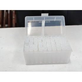 Caja plástico con 50 tubos para pólvora 50 grains - Armeria