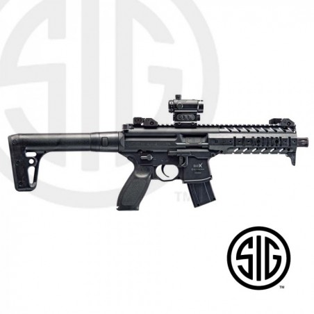 Subfusil Sig Sauer MPX ASP Black + Red Dot Co2 - 4,5 Balines -