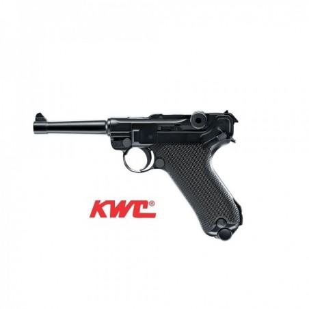Pistola KWC P08 Full Metal - Blow back Co2 4,5 mm BBs Acero -