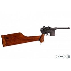 Pistola DENIX C96 MAUSER con funda-culata - Armeria EGARA
