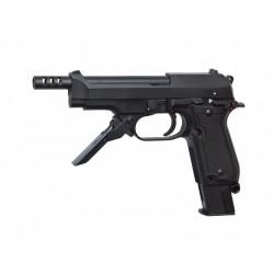Pistola M93R II, semi/rafaga 3 tiros Negra - 6 mm GBB - Armeria