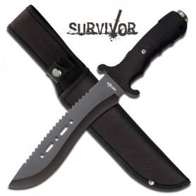 "Cuchillo de supervivencia Survivor HK-729BK largo 12"" - Armeria"