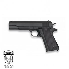 Pistola Golden Eagle 1911 Negro corredera metálica - 6 mm