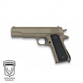 Pistola Golden Eagle 1911 TAN corredera metálica - 6 mm muelle