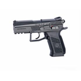 Pistola CZ75 P-07 Duty Negra blowback corredera metalica - 6 mm