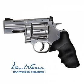 """Revolver Dan Wesson 715, 2,5"""" Silver - 4,5 mm Co2 Bbs Acero -"""
