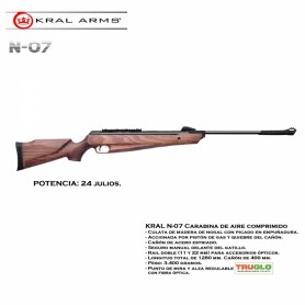 Carabina KRAL Air N-07 madera de nogal, gas piston - 4,5 mm