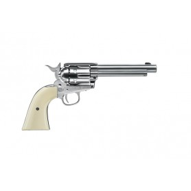 "Revolver Colt SA Army 45 Niquel 5,5"" Co2 - 4,5 mm Plomo -"