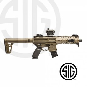 Subfusil Sig Sauer MPX ASP FDE + Red Dot Co2 - 4,5 Balines -