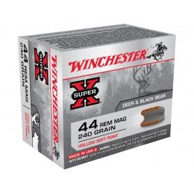 Munición Metálica Winchester Cal. 44 Magnum 240 Gr Hollow SP -