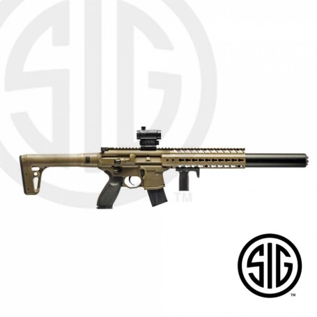 Subfusil Sig Sauer MCX ASP FDE + Red Dot Co2 - 4,5 Balines -