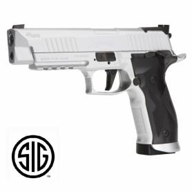 Pistola Sig Sauer X-FIVE Plata CO2 - 4,5 mm Balines - Blowback